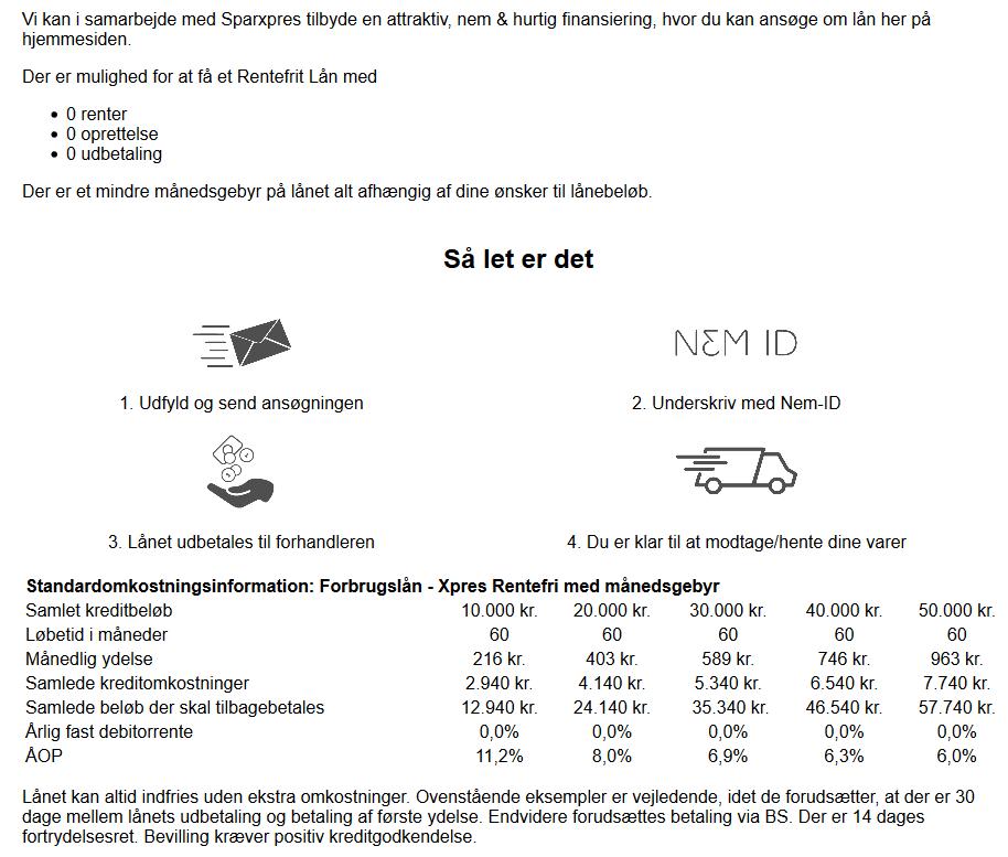 Finansering Sparxpres - KJ Porte ApS